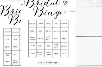 Bridal Shower Prefilled Bingo Cards